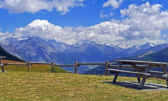Italy, Southern Alps, Lombardy, View, Resting Place