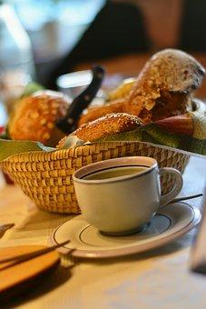 Breakfast, Breakfast Table, Cup, Roll, Grain Bread, Eat