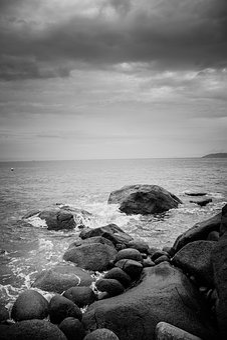 Rock, Beach, Mar, Landscape, Nature, Ocean, Stones