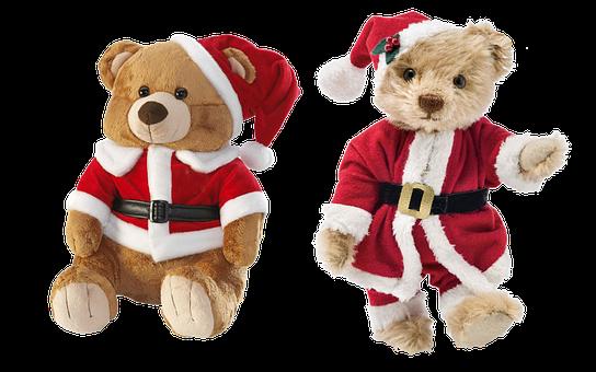 Teddy Bear, Nicholas, Isolated, Christmas, Soft Toy