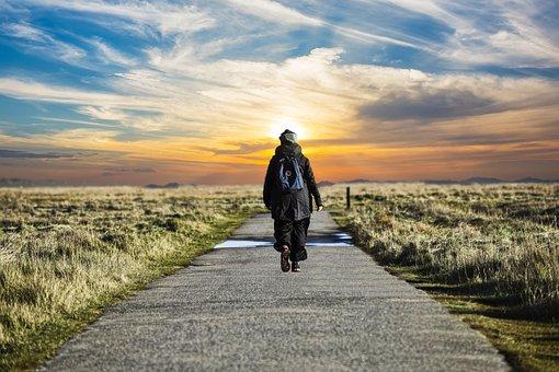 North Sea, Walk, Alone, Sky, Nature, Holiday