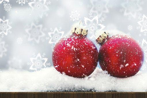 Christmas, Background, Bauble, Decorations, Xmas