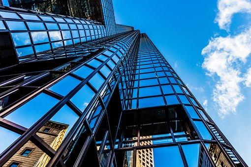 Boston, Mirroring, Skyscraper, Sky, Usa, Building