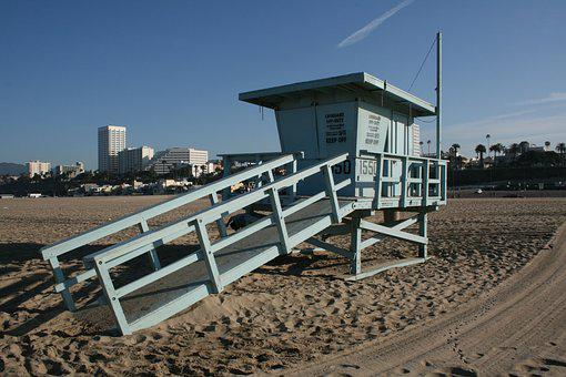 Los Angeles, Lifeguard On Duty, California, Cities