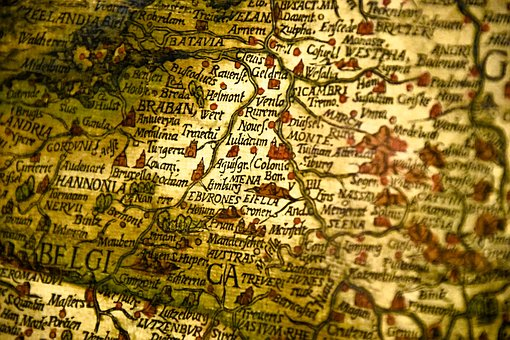Map, Cologne, Germany, Old, Way, Globe, Germany Map