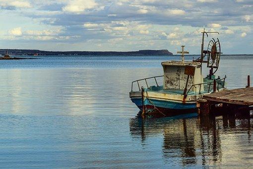 Cyprus, Potamos Liopetri, Boat, Fishing Shelter, Deck