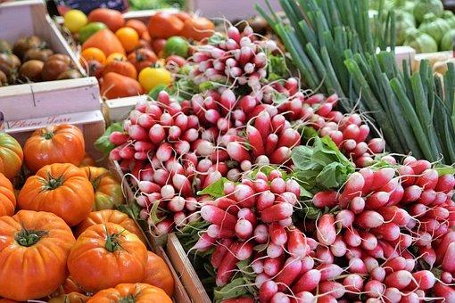 Radishes, Fruit, Vegetables, Eat, Food, Market, Sale