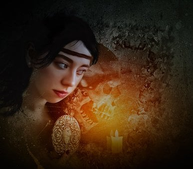 Fantasy, Gothic, Dark, Phantasmagoria, Portrait