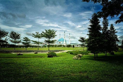 Mosque, Prayers, Green, Muslim, Religion, Religious