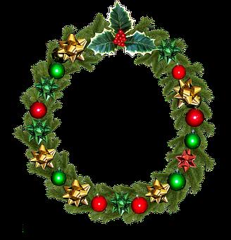 Christmas, Wreath, Holly, Decoration