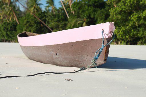 Boat, Kei Islands, White Sand, Coconut