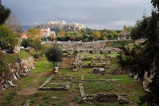 Landscape, Parthenon, Citadel, Kerameikos, History