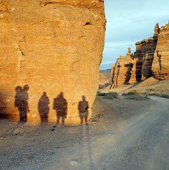 Shadows, Path, Sand, Rocks, Nature, Canyon, Country