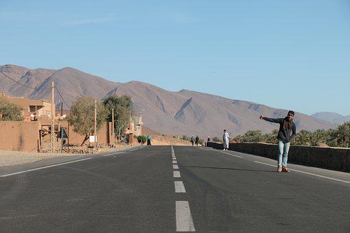 Morocco, Africa, Tracker, Wilderness, Path, Mountains