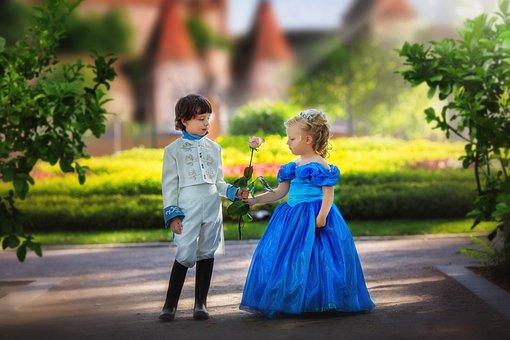 Prince And Princess, Kids, Park, Castle