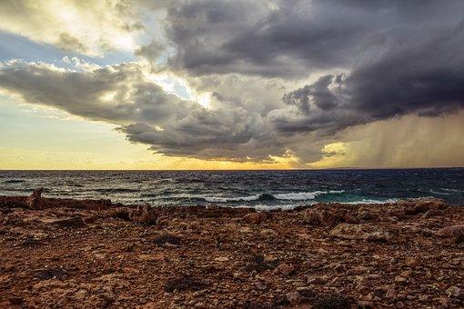 Rocky Coast, Sky, Clouds, Dramatic, Spectacular, Stormy
