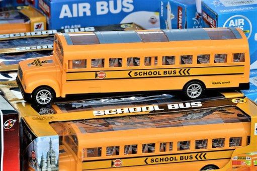 School Bus, Toy, Bus, Baby, Model