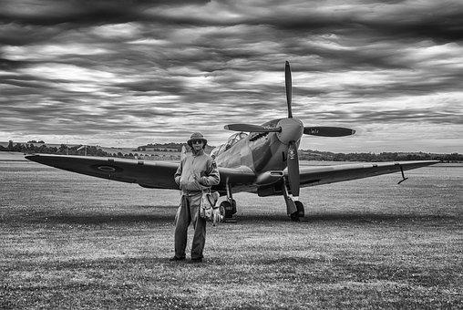 Aircraft, Spitfire, Fighter, Ww2, Vintage, Aviation