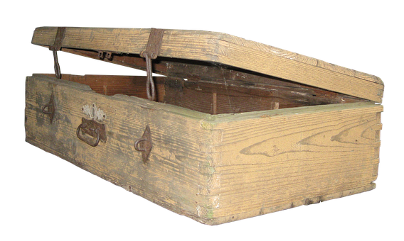 Luggage, Wooden Case, Old, Fittings, Metal, Antique