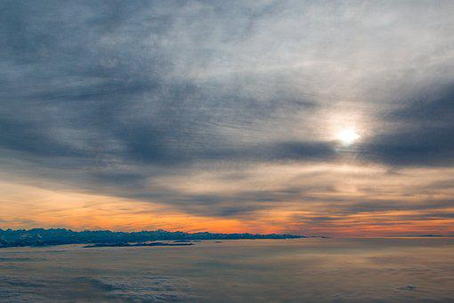 Clouds, Above The Clouds, Fly, Sky, Aircraft, Sunset