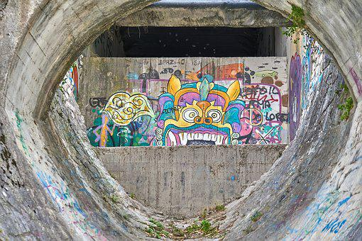 Graffiti, Painting, Art, Artwork, Colorful, Stone