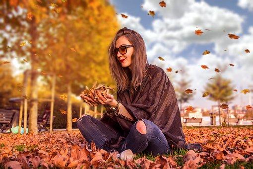 Model, Portrait, Autumn, Sunset, Fashion, Nature