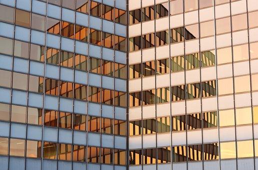 Belgium, Antwerp, Office, Building, Facade, Reflections