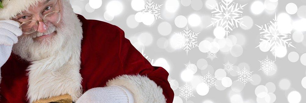 Christmas, Santa Claus, Claus, Santa, Bokeh, Winter