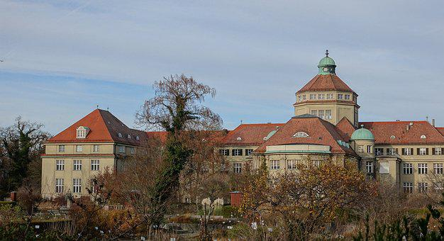 Munich, Botanical Garden, Autumn, Garden, Building