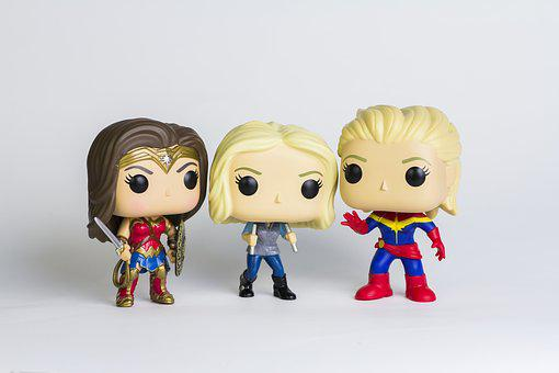 Agent 13, Captain Marvel, Wonder Woman, Marvel Figurine