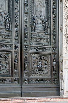 Church Door, Cathedral Of Florence, Florence Cathedral