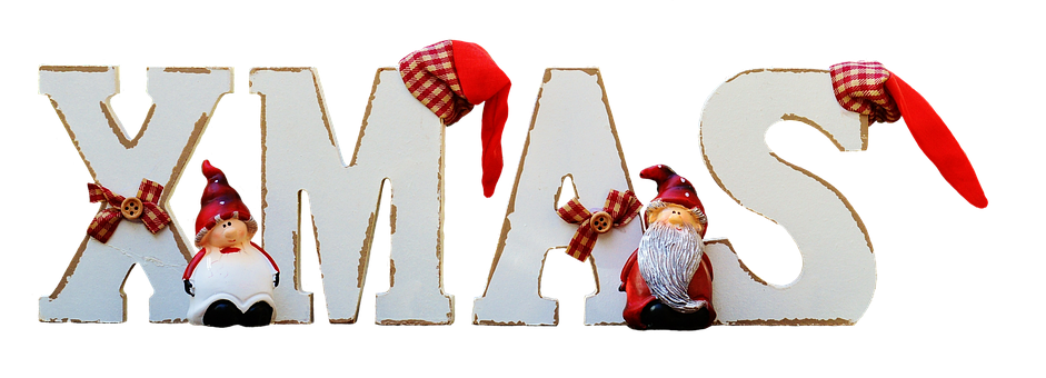 Christmas, Lettering, English, Decorated, Imp