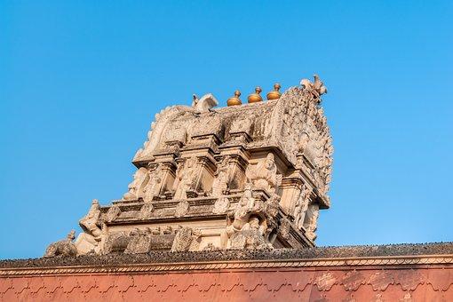 Temple In Vrindavan, Top, Decoration, Building