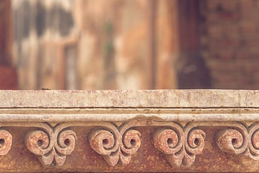Wall, Decor, India, House, Decorative, Frame, Dirty