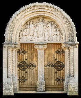 Door, Decorated, Castle, Input, Old Door, Gate, Wood