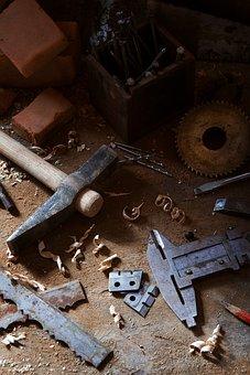 Construction, Carpenter, Hammer, Treatment, Equipment
