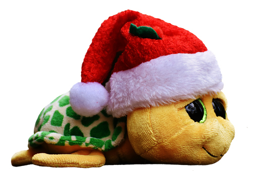 Christmas, Turtle, Soft Toy, Cute, Santa Hat, Funny