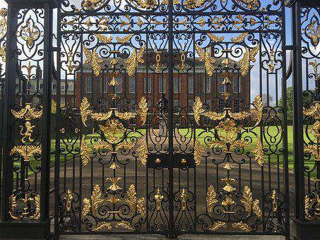 London, Kensington Palace, United Kingdom, Fence, Goal