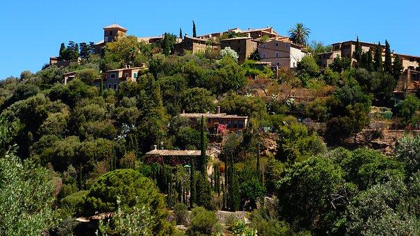 Village, Hill, Landscape, A Fishing Village, The Path