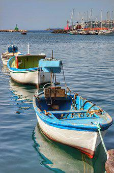 Boats, Harbour, Port, Procida, Island, Italy