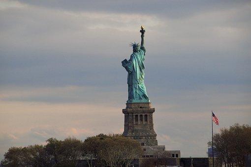 Statue Of Liberty, Liberty, Freedom, Statue, Landmark