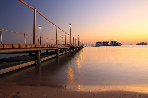 Web, Piers, Long Exposure, Mood, Jetty, Ship, Bank, Sky