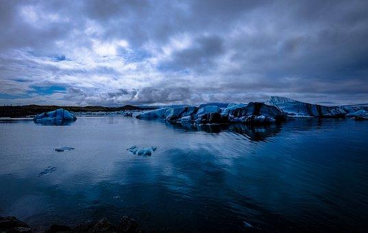 Glacier, Iceberg, Blue, Nature, Ice, Landscape, Travel
