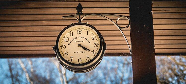 Clock, Railway Station, Station Clock, Railway