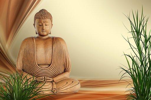Buddha, Wellness, Relaxation, Rest, Grass, Figure