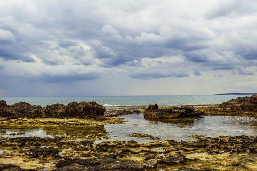 Rocky Coast, Sky, Clouds, Sea, Nature, Landscape