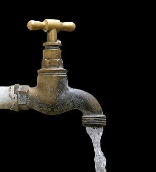 Tap, Faucet, Water, Running, Running Water, Metal, Flow