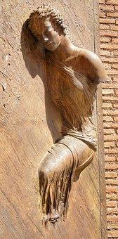 Wall, Art, Sleeping, Woman, Female, Sculpture, Italian