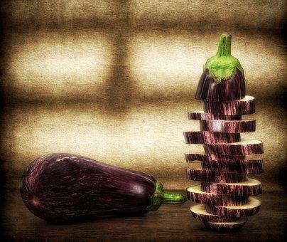 Eggplant, Vegetables, Healthy, Food, Still Life