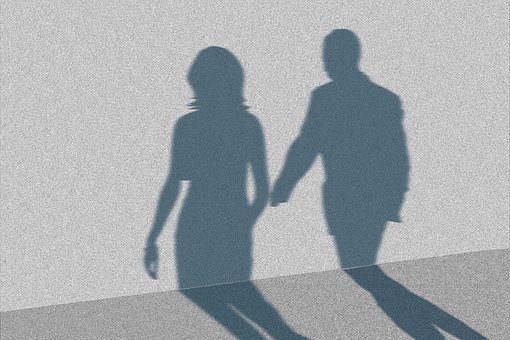 Shadow, Wall, Man, Woman, Silhouette, Background